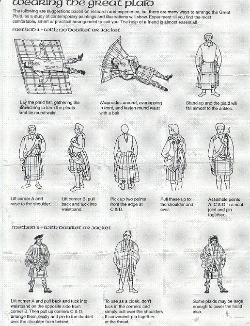 how to wear a great kilt