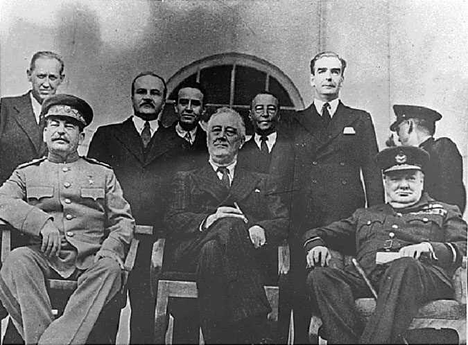 Stalin Roosevelt  Churchill Teheran Conference 1943